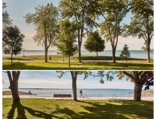 The omnipresent horizon of Lake Ontario unifies diverse park users into a powerful singular experience