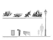 Urban furniture is selected and designed by landscape architects.